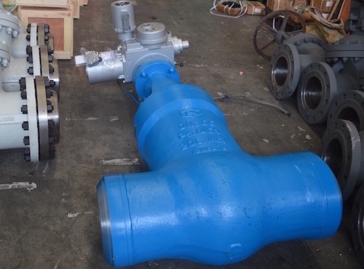 welding end globe valve with electric actuator
