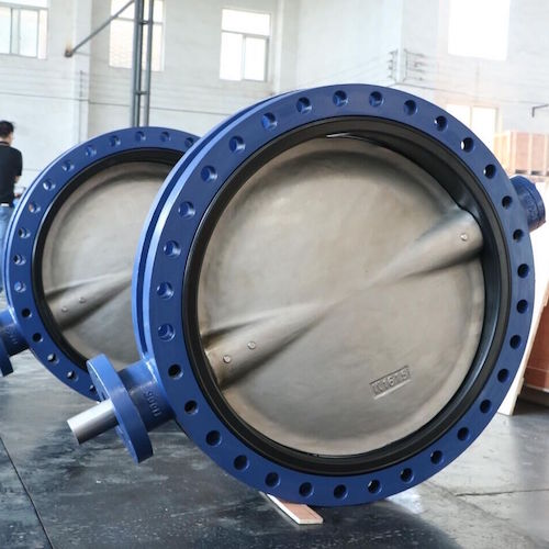 Flange end concentric butterfly valve