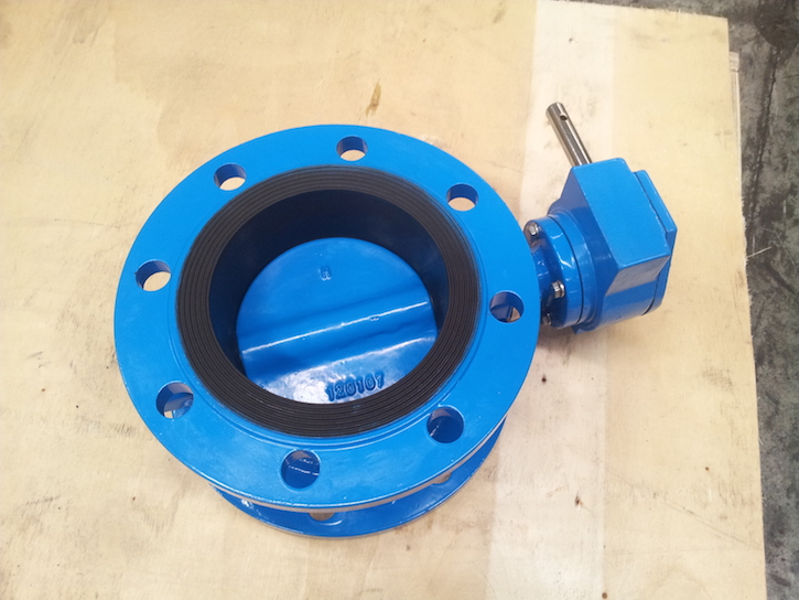 flanged butterfly valve with gearbox
